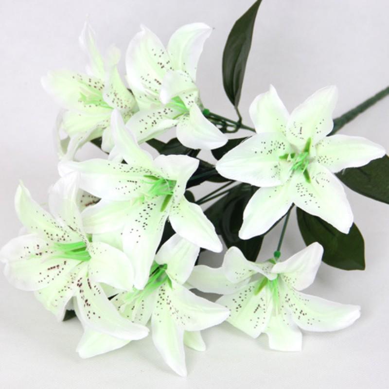 DIY 10 Heads Artificial Silk Flowers Wedding Bouquet Home Party ...